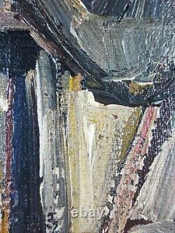 Ancien Tableau Portrait de Femme Peinture Huile Toile Antique Oil Painting