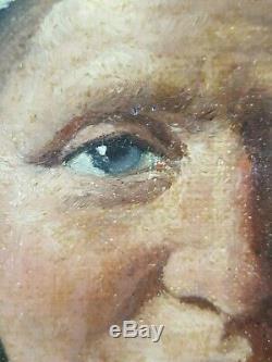 Ancien Tableau Religieuse Peinture Huile Antique Oil Painting Altes Ölgemälde