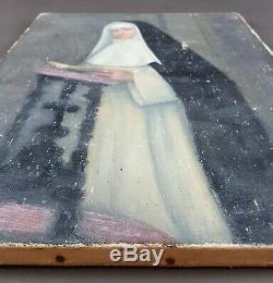 Ancien Tableau Religieuse Peinture Huile Toile Antique Oil Painting Ölgemälde