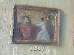 Ancien Tableau Roger-François Picquefeu (XIXe-XXe) Peinture Huile Oil Painting