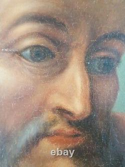 Ancien Tableau Saint André Peinture Huile Antique Oil Painting Dipinto Malerei