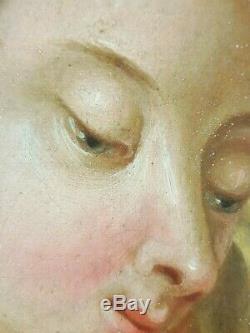 Ancien Tableau Saint Jean Peinture Huile Toile Antique Painting Antico Dipinto
