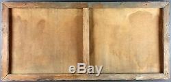 Ancien Tableau Scène Allégorique Peinture Huile Antique Oil Painting