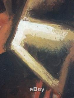Ancien Tableau Violon Peinture Huile Antique Oil Painting