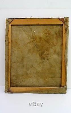 Ancien Tableau peinture HST portrait personnage Oil painting signed