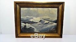 Ancien Tableau peinture signé HST Oil painting signed