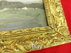 Ancien Tableau signé W. Nelly Peintre de Barbizon fin XIXe peinture