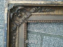 Ancien cadre bois stuc doré feuillure 39 cm x 30 cm old frame tableau peinture