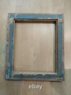Ancien cadre bois stuc doré feuillure 50 cm x 41 cm old frame peinture tableau