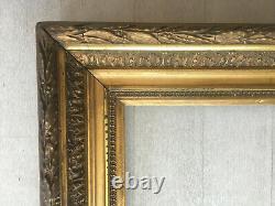 Ancien cadre doré format 15P pour tableau peinture 65x50cm