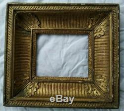 Ancien cadre empire restauration feuillure 16 cm x 13 cm frame tableau peinture