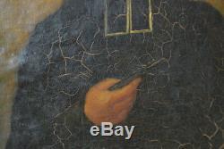 Ancien tableau 19ème Pierre André Retord peinture pretre diocèse de Lyon 1831