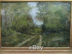 Ancien tableau Chemin en Forêt