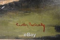 Ancien tableau HT Nature morte aux poissons signé Gaston Lestrade Belge XXe