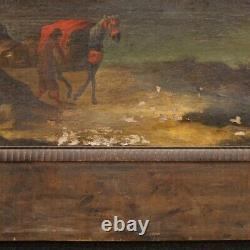 Ancien tableau italien peinture huile sur toile paysage 700 18ème siècle