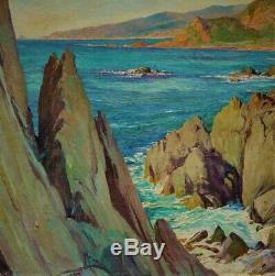 Ancien tableau les iles sanguinaires corse signé Adolphe Cossard 1930