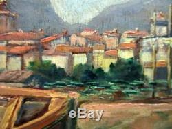 Ancien tableau, marine Aux abords de Marseille