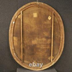 Ancien tableau ovale paysage peinture huile sur toile cadre 700 18ème siècle