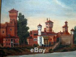 Ancien tableau paysage Hollandais peinture huile sur toile Signé Breitner