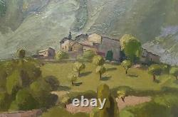 Ancien tableau peinture Huile Sur Panneau Georges Manillier 1941