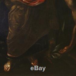 Ancien tableau peinture biblique huile sur toile Judith et Holopherne 700