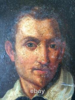 Ancien tableau peinture portrait d'homme