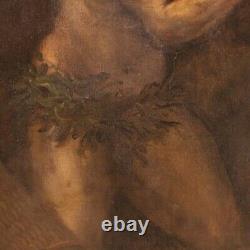 Ancien tableau religieux Saint Jérôme huile sur toile peinture 600 17ème siècle
