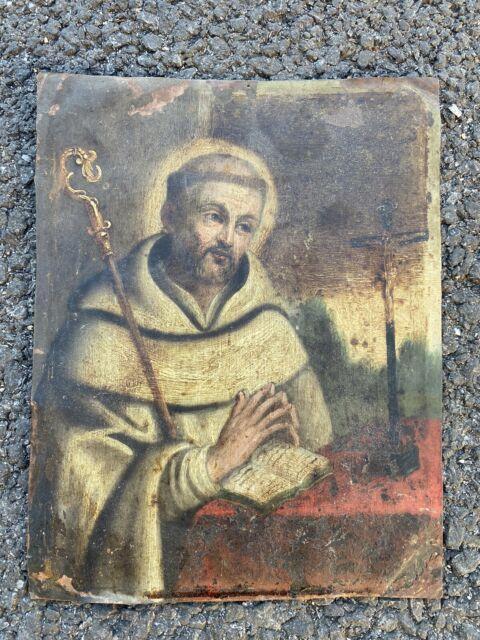 Ancien Tableau Religieux Peinture Italienne Sur Cuivre