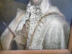 Ancien tableaux peinture portrait sur panneau