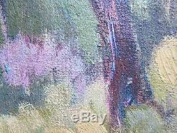 Ancienne Peinture à Huile sur Table Tableau Paysage Original avec Garantie p9