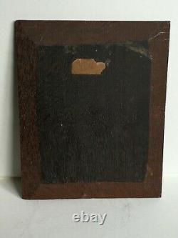 Ancienne Tableau de Peinture à huileLes buveurssigné et daté 1879