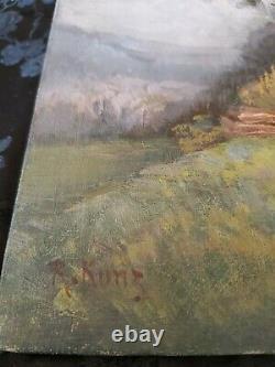 Ancienne peinture a l huile Reinhardt Kunz peintre Alsace tableau 1836 1906