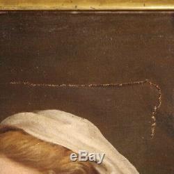 Ancienne peinture huile sur toile tableau religieux 700 18ème siècle art