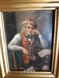 Ancienne peinture sur cuivre école flamande XVIIe XVIIIe siecle tableau hollande