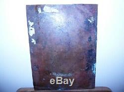 Ancienne peinture sur cuivre haute epoque a identifier tableau