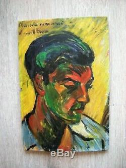André Verdilhan (1881-1963) HSP portrait fauve ancien tableau peinture provence