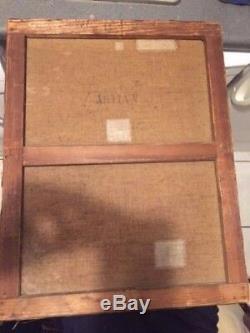 BEAU ANCIEN TABLEAU huile sur toile Peinture XIX Ed. DUPARC BARBIZON PAYSAGE 19e