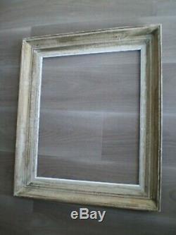 Cadre Decor Bois Moulure Gris 10f Ancien Deco Tableau Toile Peinture 55x46