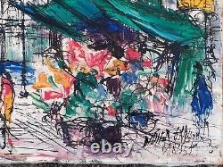 Didier Grandt Tableau ancien Huile Sur Toile, Peinture Paris 1951