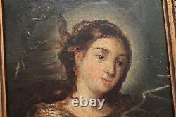 ECOLE ITALIENNE 18ème LA SIBYLLE D' ERYTHREES ANCIEN TABLEAU PEINTURE CADRE