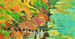 Eugène Grether 1908-1986. Paysage Alsace. Peinture Hst/b. Tableau ancien