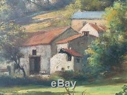 Francois marius Baron école de murol tableau haute vienne peinture ancienne