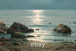 Jose Casanova Lujan Valencia 1933-1989 Ancien Tableau Peinture Marine Cadre