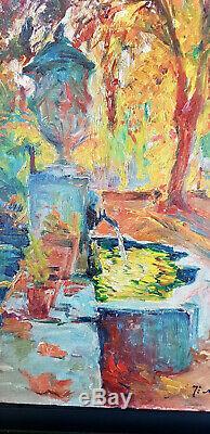 Joseph milon tableau peinture à huile ancien Aix en Provence Ravaisou Niollon