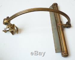 Lampe ancienne en bronze et laiton pour peinture tableau galerie d'Art 1910