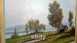 MEIER Studie am Bodensee Ancien tableau peinture HST Lac de Constance