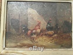 Paire de Tableau ancien tres belle peinture et cadre tres ancien