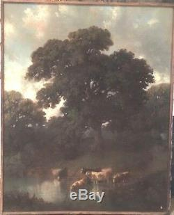 Pastel ancien /Huile sur toile / Peinture / Dessin /Aquarelle Tableau ancien