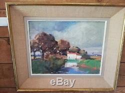 Paul Morchain(1876-1939)Peinture de 1920 huile panneau tableau ancien maison