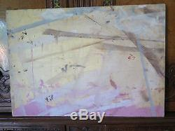 Paysage de Campagne Style Impressionniste Tableau Ancienne Peinture à Huile p8